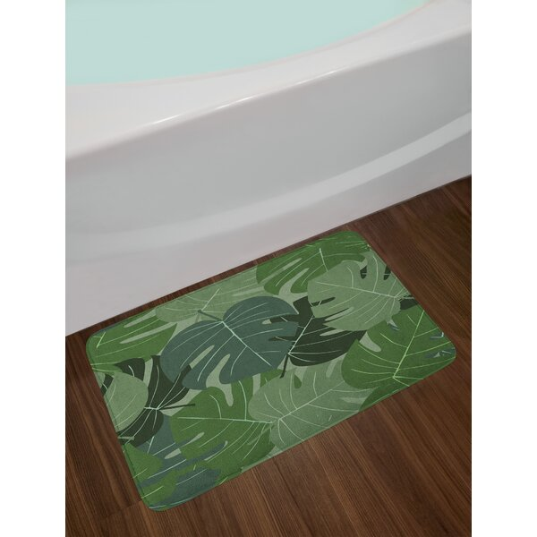 Camouflage Forest Green Bath Rug by East Urban Home