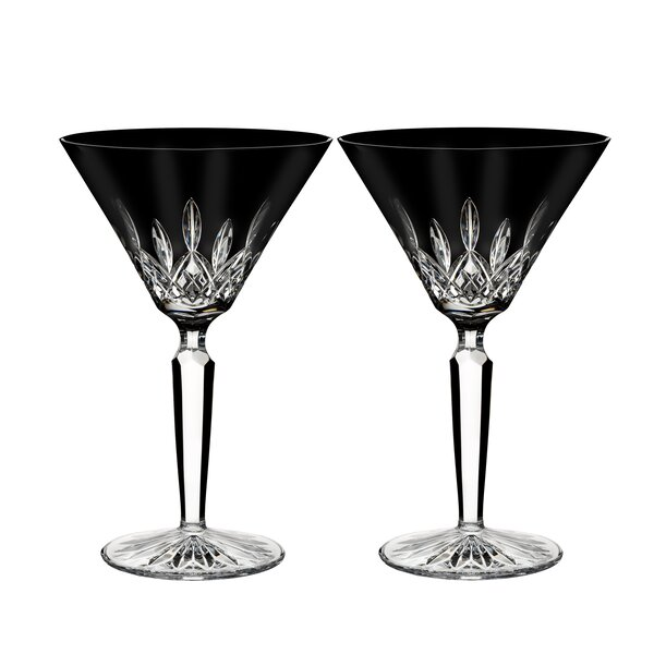 Lismore Martini 7 oz. Crystal Cocktail Glass (Set of 2) by Waterford