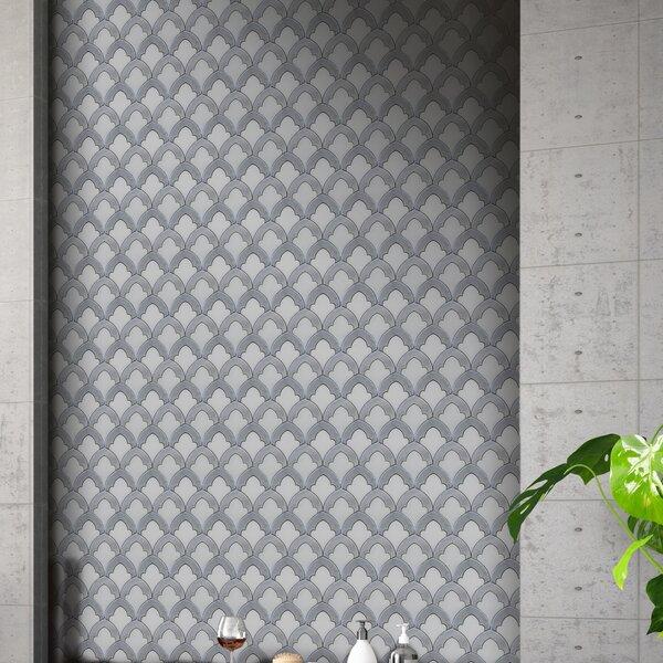 Floral Arch 10 x 10 Marble Mosaic Tile