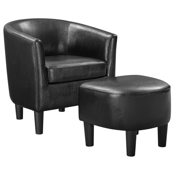 Lucea Barrel Chair and Ottoman by Latitude Run Latitude Run
