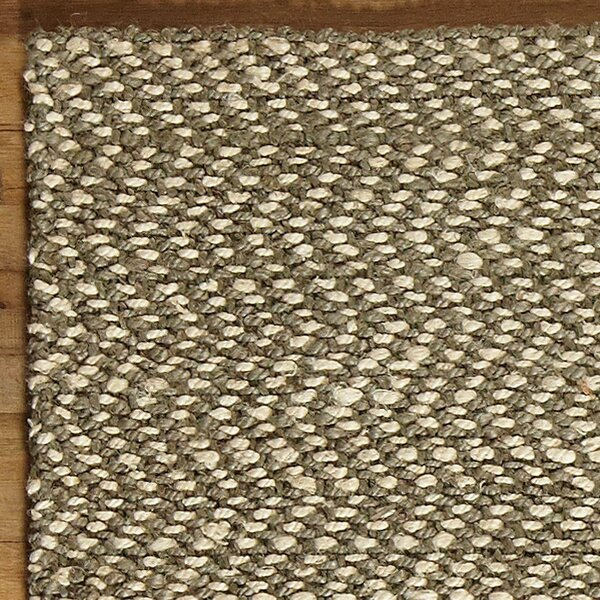 Sibley Hand-Woven Jute Pewter  Area Rug by Birch Lane™