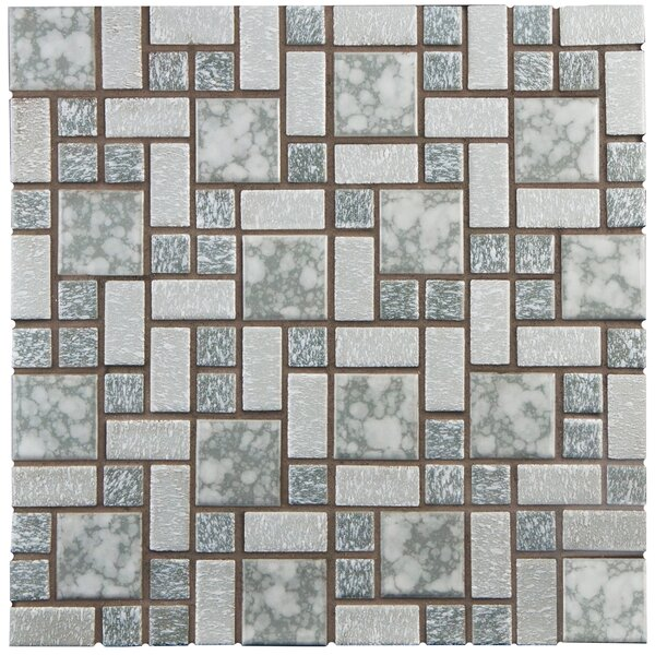 Academy Random Sized Porcelain Mosaic Tile in Gray by EliteTile