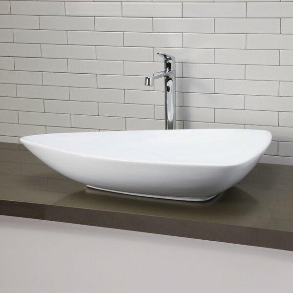 Classically Redefined Ceramic Specialty Vessel Bathroom Sink by DECOLAV