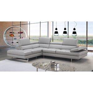 Aurora Leather Sectional  sc 1 st  Wayfair : leather sofa sectional - Sectionals, Sofas & Couches