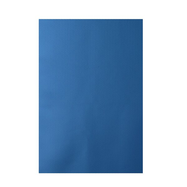 Solid Blue Indoor/Outdoor Area Rug by e by design