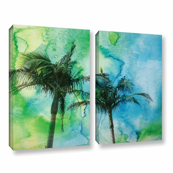 Palm Trees 2 Piece Painting Print on Wrapped Canvas Set by Bay Isle Home