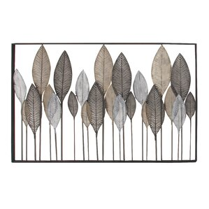Large Metal Leaf Wall Decor Enchanting Palm Leaf Metal Wall Decor  Wayfair 2017