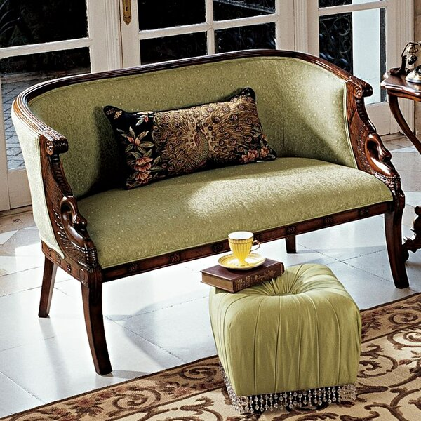 Perfect Shop Due Cigno Settee by Design Toscano by Design Toscano