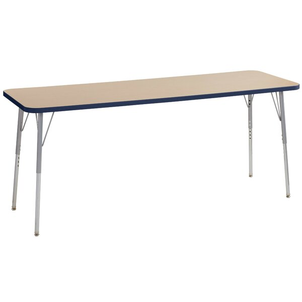 Maple Contour Thermo-Fused Adjustable 24 x 72 Rectangular Activity Table by ECR4kids