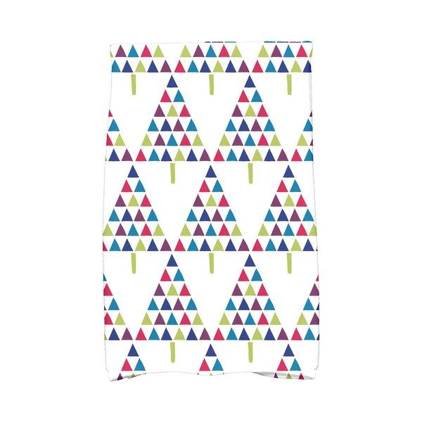 Triangle Trees II Hand Towel by The Holiday Aisle