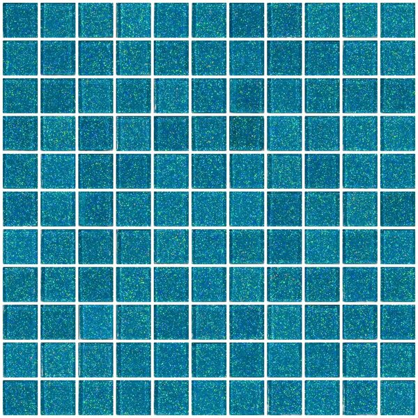 1 x 1 Glass Mosaic Tile in Cerulean Blue by Susan Jablon