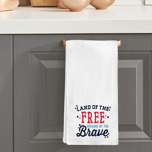 Land of the Free Tea Towel by The Holiday Aisle