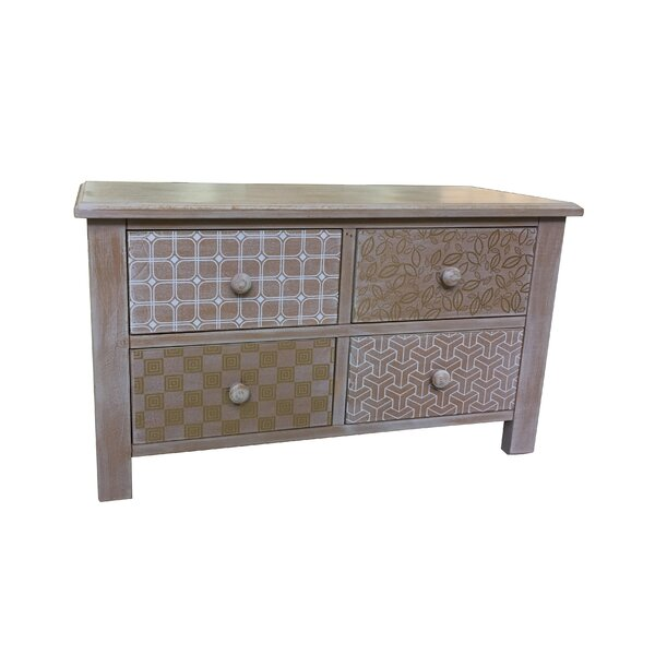 Atwell Wooden 4 Drawer Accent Chest