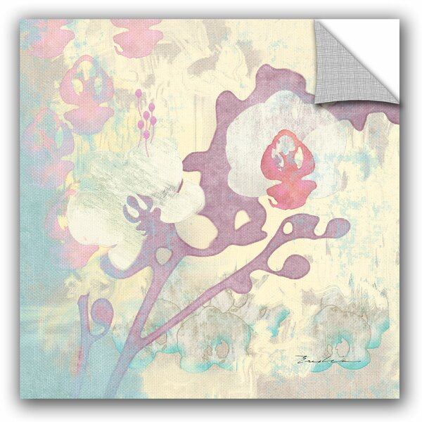 Evelia Sowash Abstract Orchids Panel I Wall Decal by ArtWall
