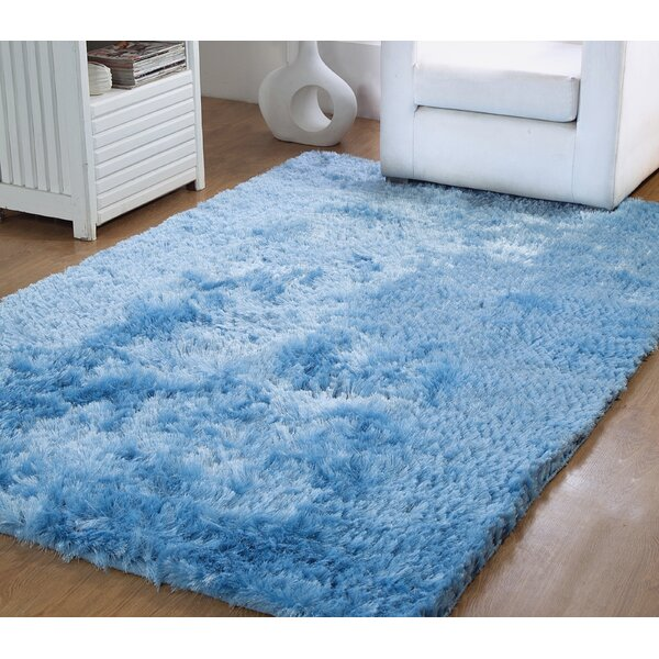 Horst Shag Hand-Woven Blue Indoor/Outdoor Area Rug by Latitude Run
