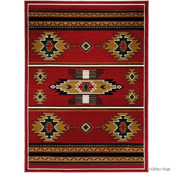 Myron Red/Black Area Rug by Loon Peak