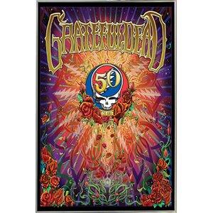 'Grateful Dead - 50th Anniversary' Framed Vintage Advertisement by Frame USA