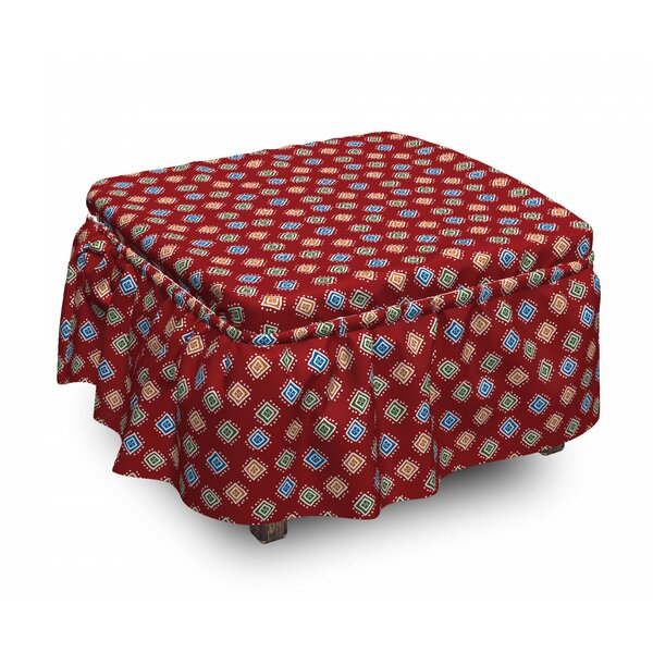 Bohemian Tribal Ottoman Slipcover (Set Of 2) By East Urban Home