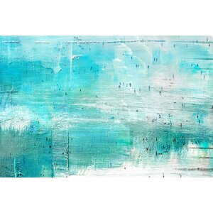 'Aqua Surf' by Parvez Taj Painting Print on Wrapped Canvas by Parvez Taj