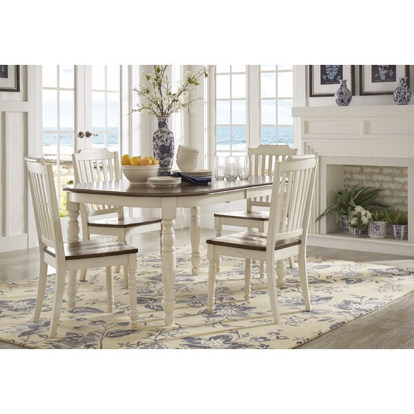 Whiteland 5 Piece Dining Set by Three Posts