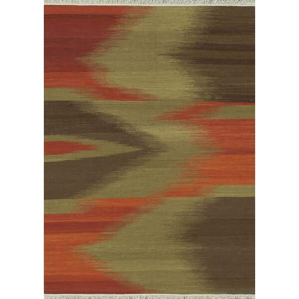 Zapata Hand-Woven Red/Brown Area Rug by Bloomsbury Market
