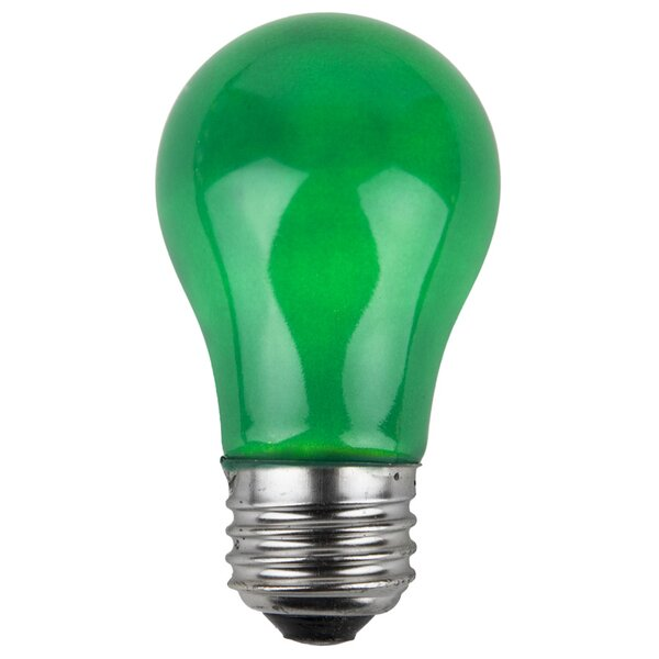 15W Green 130-Volt  Light Bulbs (Pack of 25) by Wintergreen Lighting