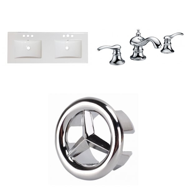 Xena Ceramic 59 Double Bathroom Vanity Top