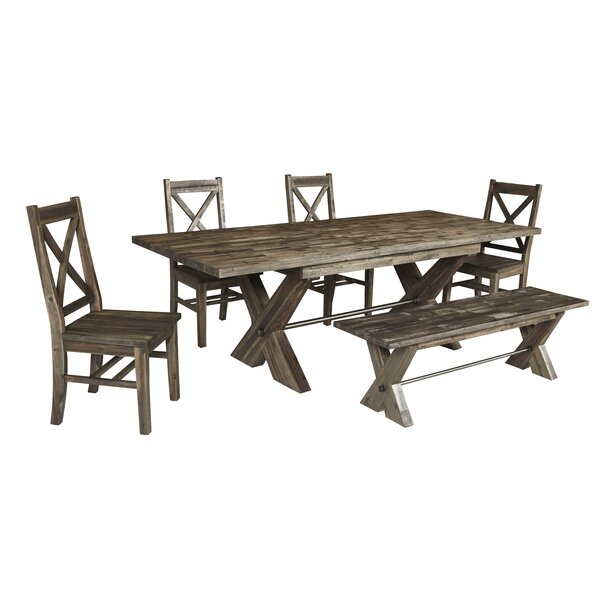 Clementina 6 Piece Dining Set by Loon Peak Loon Peak