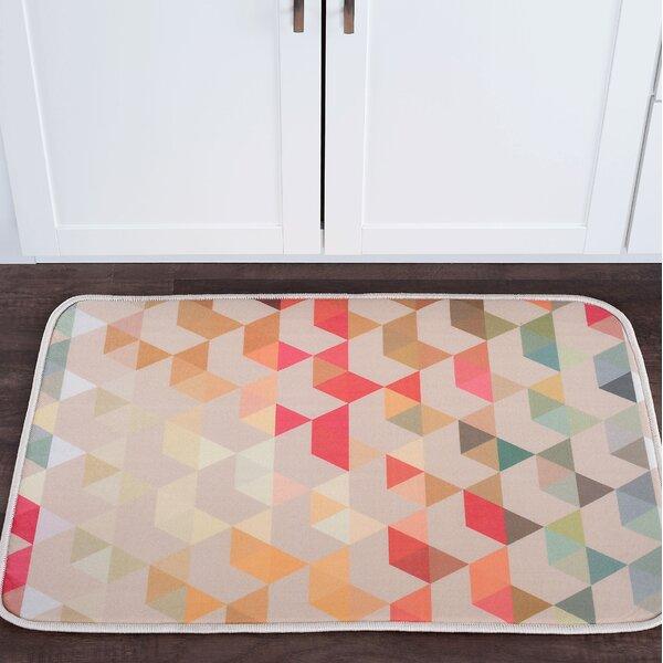 Knepp Hexagons Foam Core Bath Rug by Zipcode Design