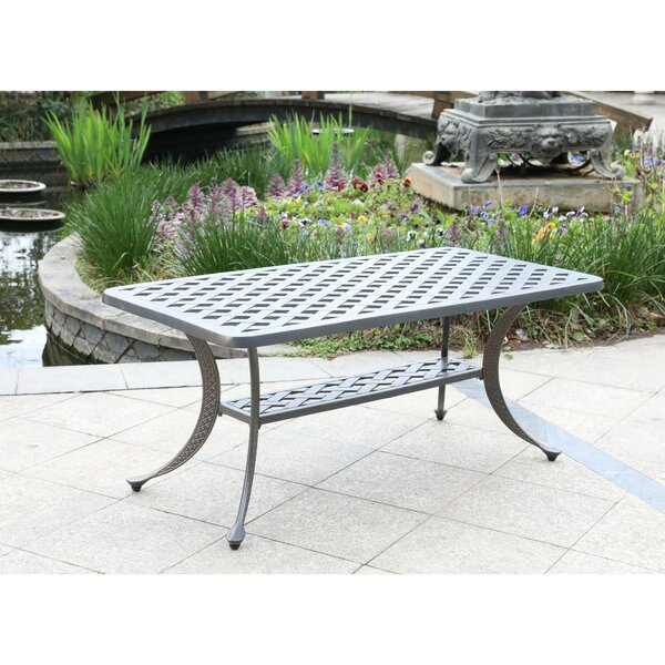 Waddington Aluminum Coffee Table by Fleur De Lis Living