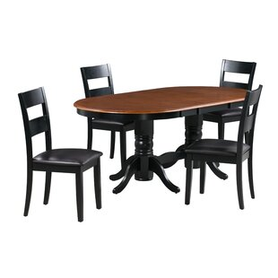 Kaiden 5 Piece Extendable Solid Wood Dining Set By Alcott Hill