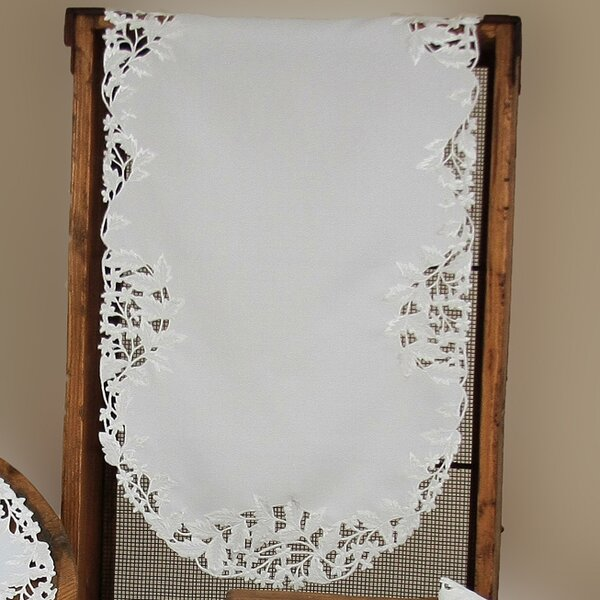 Arietta Embroidered Cutwork Table Runner by Xia Home Fashions