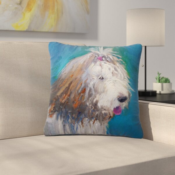 Carol Schiff Shaggy Dog Story Animals Outdoor Throw Pillow by East Urban Home