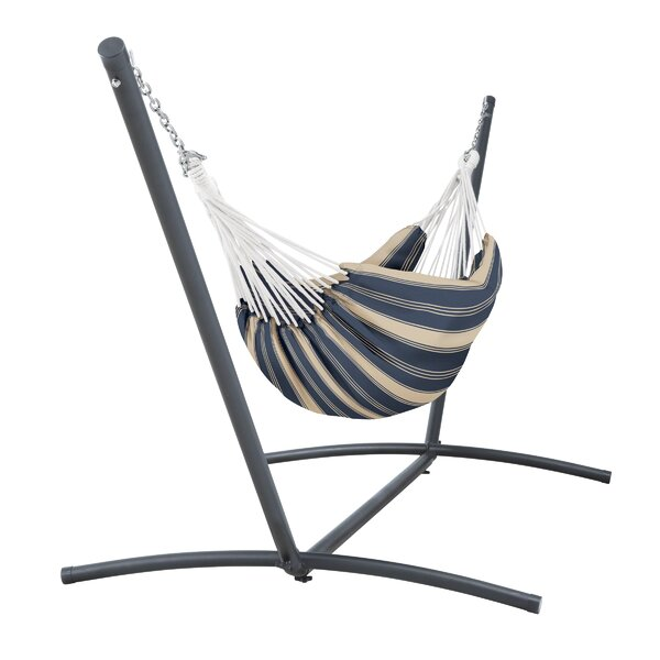 Brogan Fadesafe Brazilian Double Tree Hammock with Stand by Highland Dunes