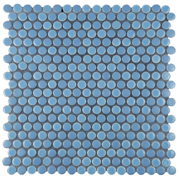 Astraea 0.62 x 0.62 Porcelain Mosaic Tile in Sky by EliteTile