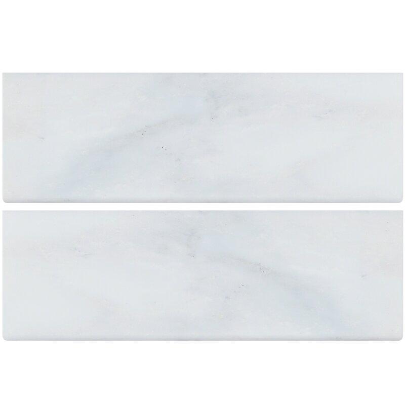 Marble Bullnose Tile Trim In White