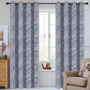 scroll jacquard damask semisheer grommet curtain panels set of 2