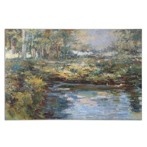 'Lake James' Painting on Canvas by Darby Home Co