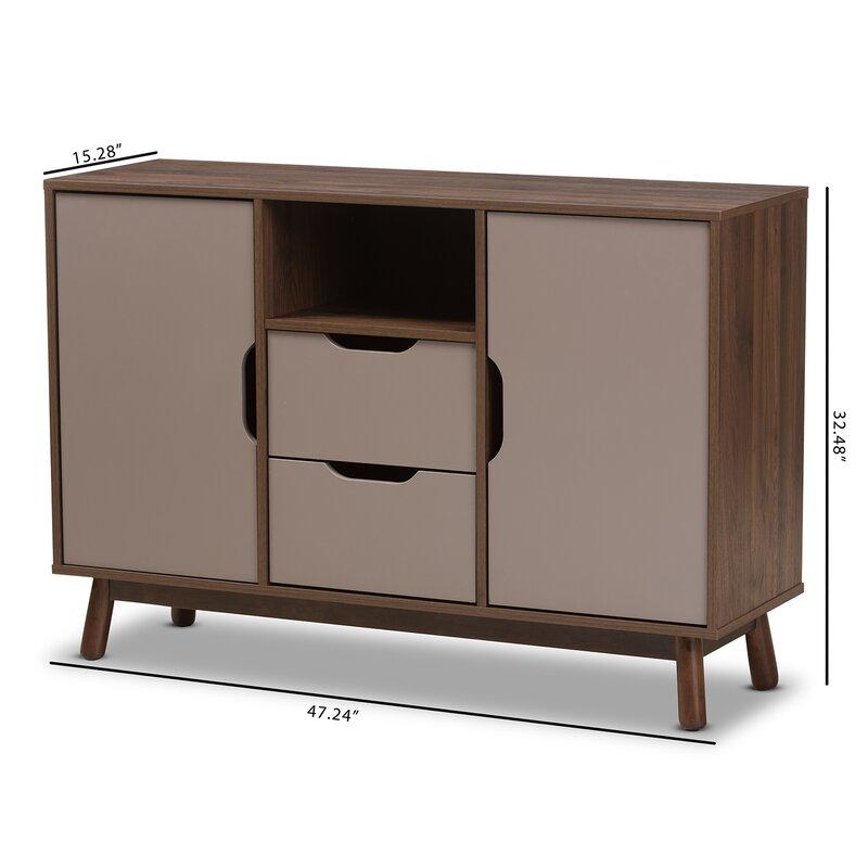 Sideboard Mid Century wrought studio pizarro mid century modern wood sideboard reviews