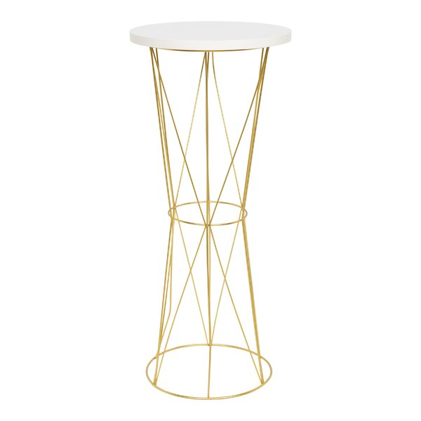 Graber Round Metal End Table by Wrought Studio