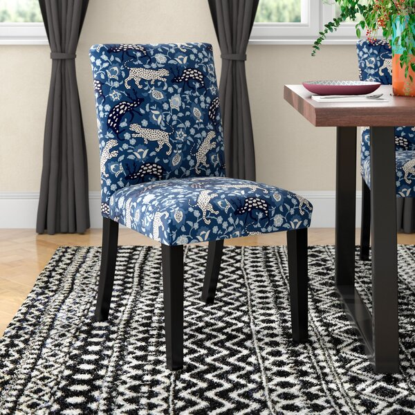 Aeliana Leopard Upholstered Parsons Chair By Mistana™