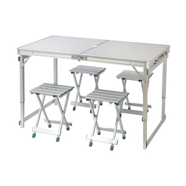5 Piece Picnic Table and Stool Set by Trademark Innovations