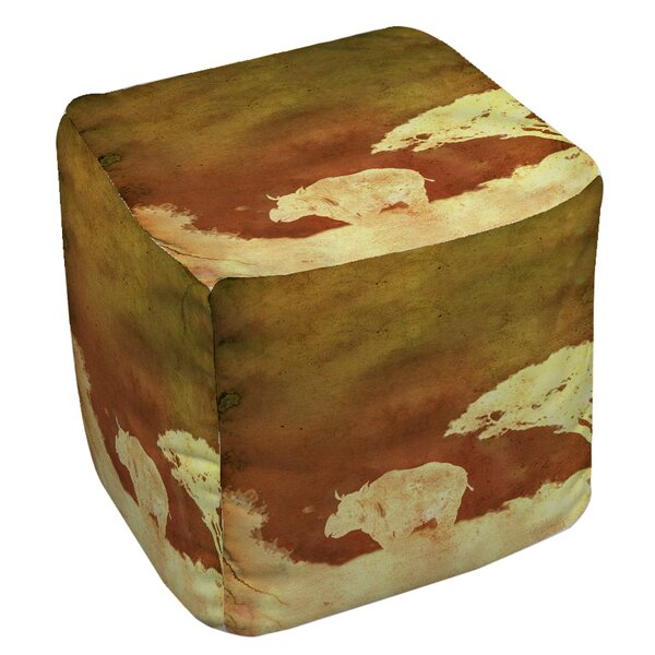 Safari Sunrise 2 Pouf By Manual Woodworkers & Weavers Cool