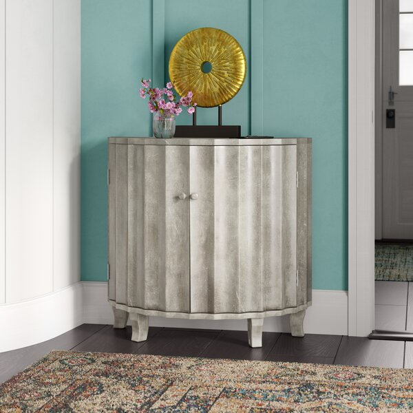 Burgess Demilune 2 Door Accent Cabinet by World Menagerie