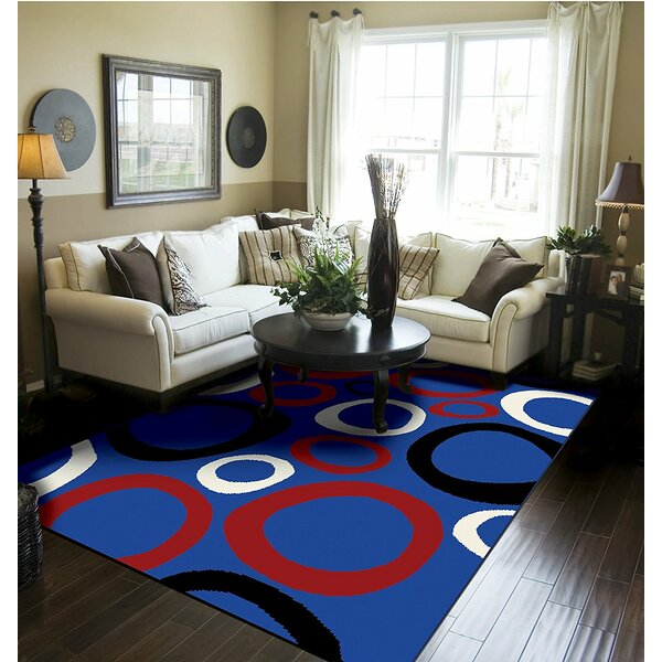 Yablonski Blue Indoor/Outdoor Area Rug by Ebern Designs