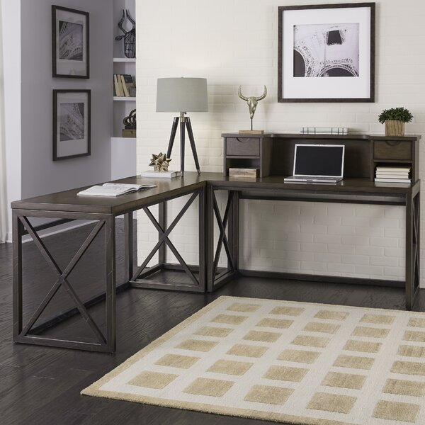 Xcel L-shape Desk with Hutch by Home Styles