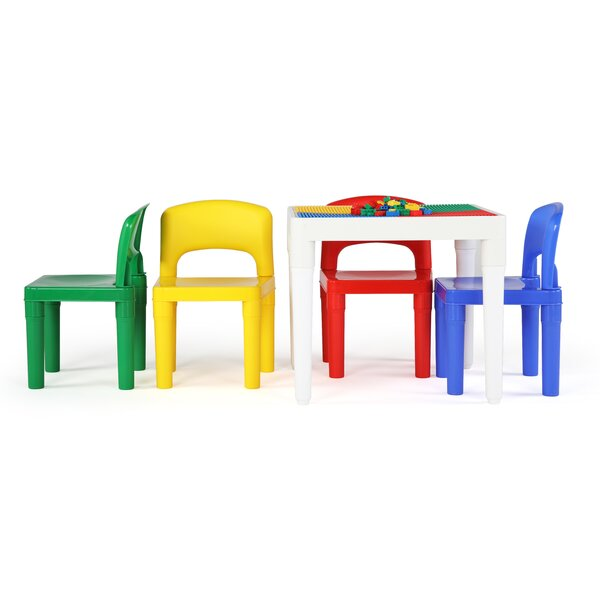 5 Piece Square Activity Table and 17 H Chair Set by Tot Tutors