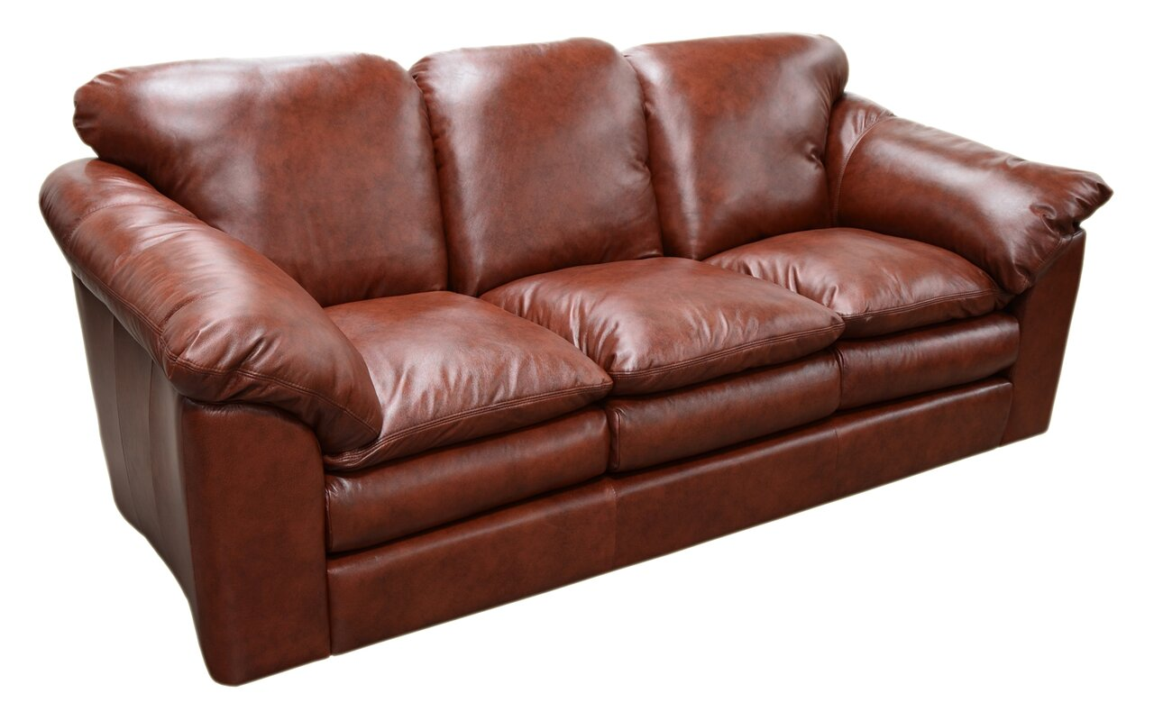 Omnia Leather Oregon Leather Sofa & Reviews