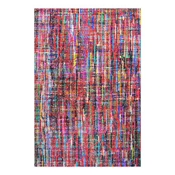 Nida Hand-Tufted Red/Blue/Black Area Rug by Brayden Studio