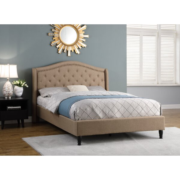 Weiss Upholstered Sleigh Bed by Alcott Hill Alcott Hill